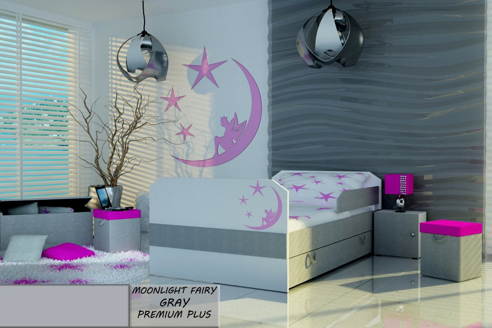 Postel PREMIUM PLUS MOONLIGHT FAIRY GRAY 140X80 cm